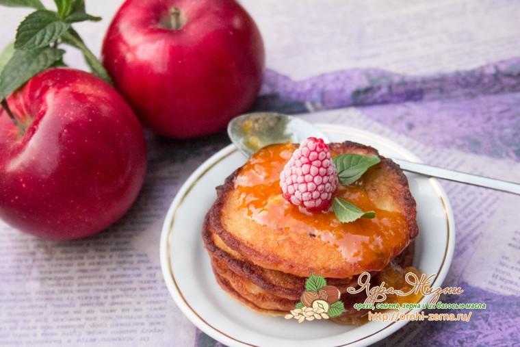 оладьи из овсяной каши с яблоками рецепт