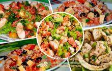 Салат с курицей и кунжутом - разные рецепты