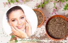 Маски с семенами чиа для лица