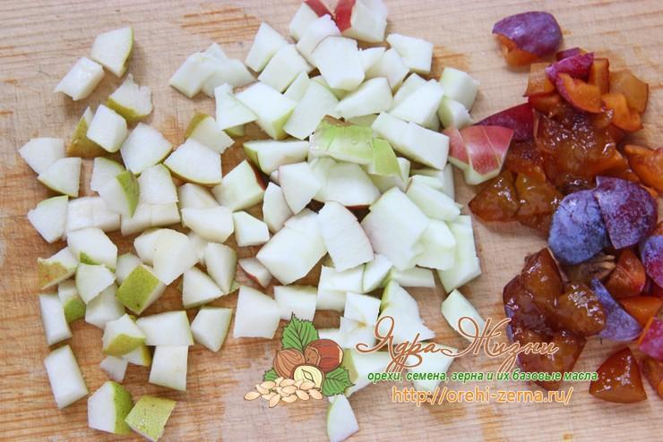 манник с фруктами и ягодами рецепт