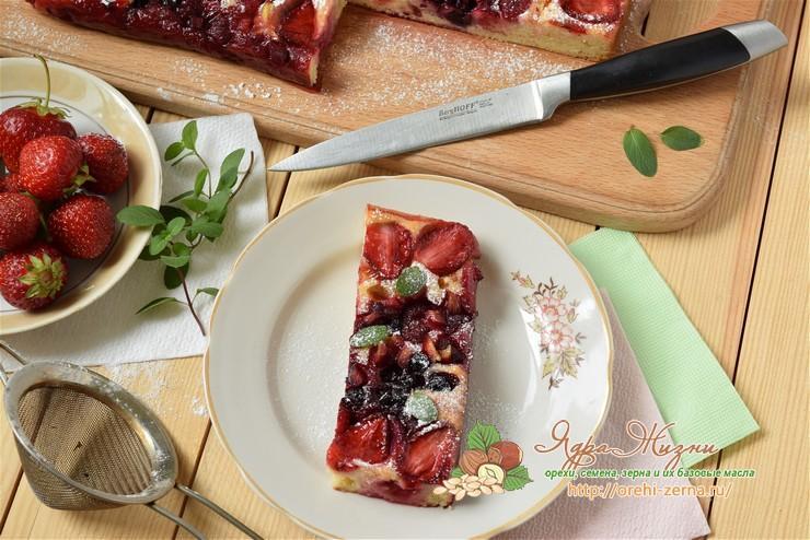 ягодный пирог Дорожки рецепт в домашних условиях
