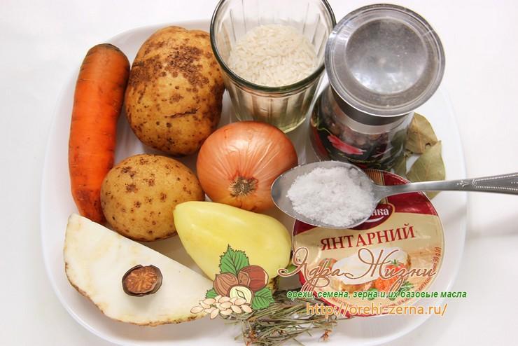 сырный суп: продукты