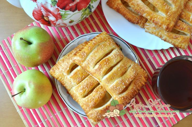 слойки с яблоками из слоеного теста рецепт в домашних условиях