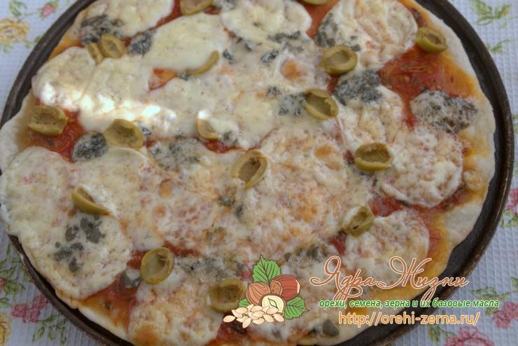 тонкое тесто для пиццы рецепт