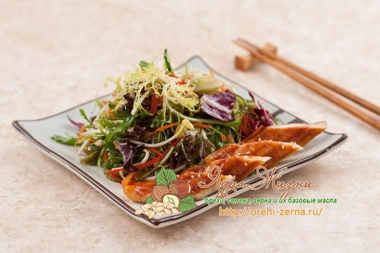 салат с ростками сои