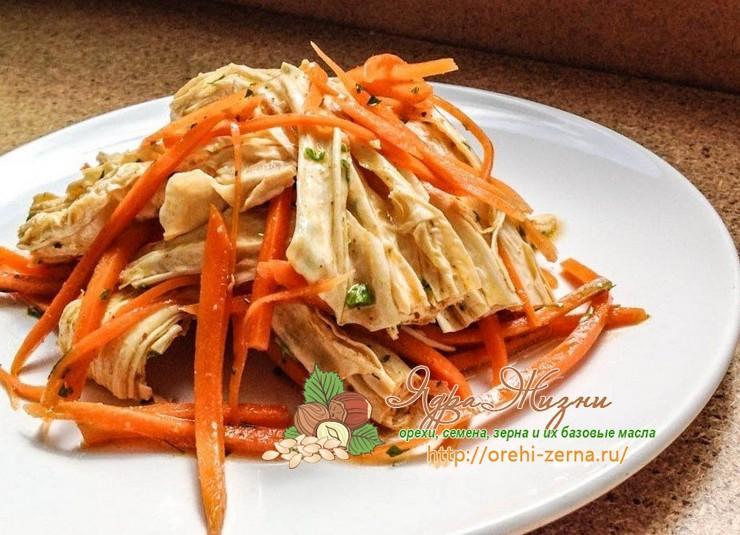Рецепт приготовления соевой спаржи Фучжу по-корейски