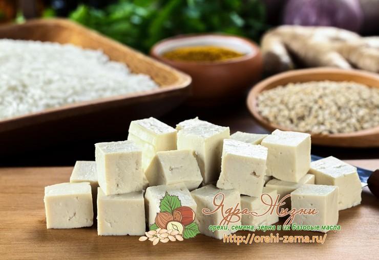 Как делают соевый сыр Тофу