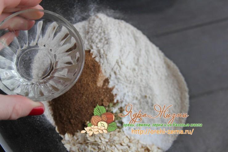 цельнозерновые хлебцы с зеленой гречкой рецепт с фото