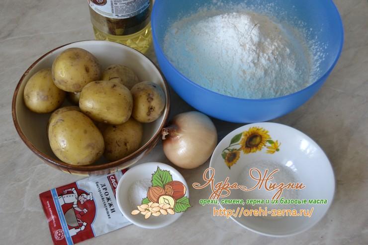 Постные жареные пирожки с картошкой