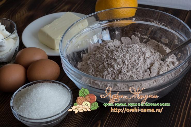 шоколадные кексы с апельсиновой цедрой