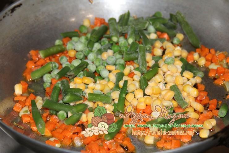 спаржевая фасоль с горошком и кукурузой рецепт
