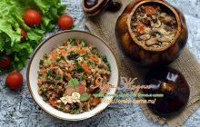 Гречка с грибами в горшочках рецепт в домашних условиях
