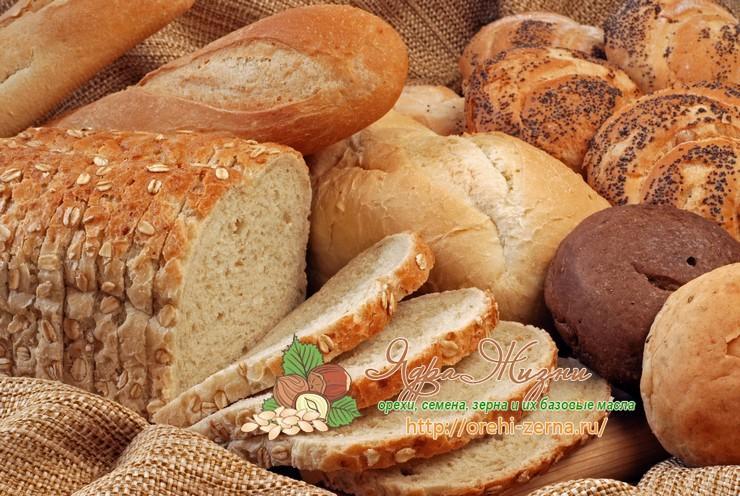 Хлеб из высшего, первого, второго и третьего сорта