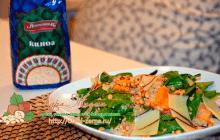 Салат с киноа, тыквой и кедровыми орехами