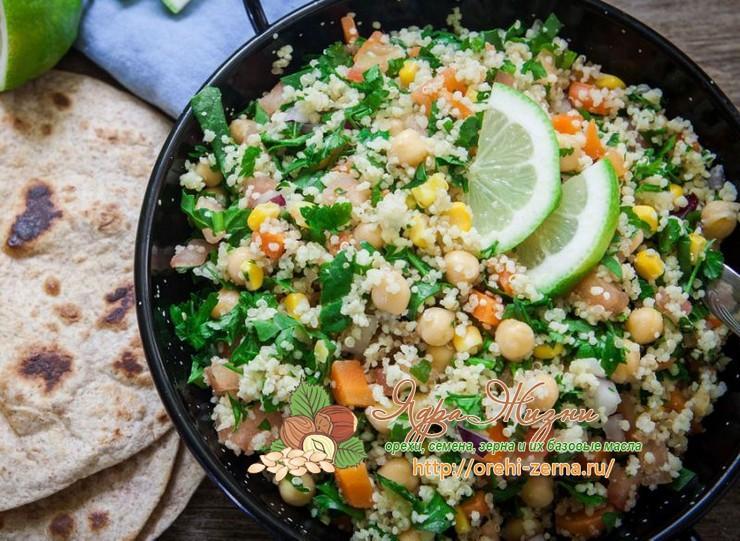 Блюда из крупы киноа с овощами