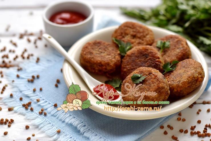 постные котлеты из гречки с грибами рецепт в домашних условиях