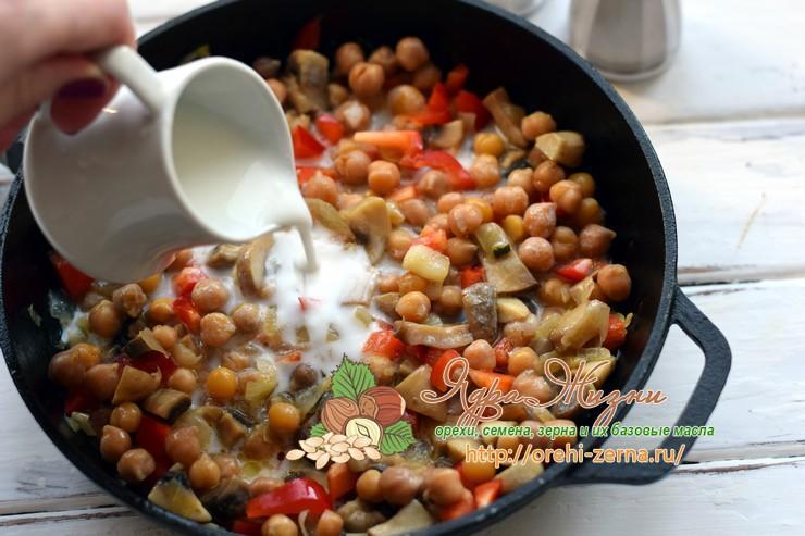 нут с грибами рецепт в домашних условиях