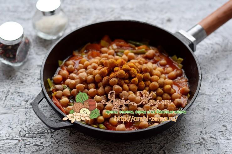 тушеный нут с овощами рецепт в домашних условиях