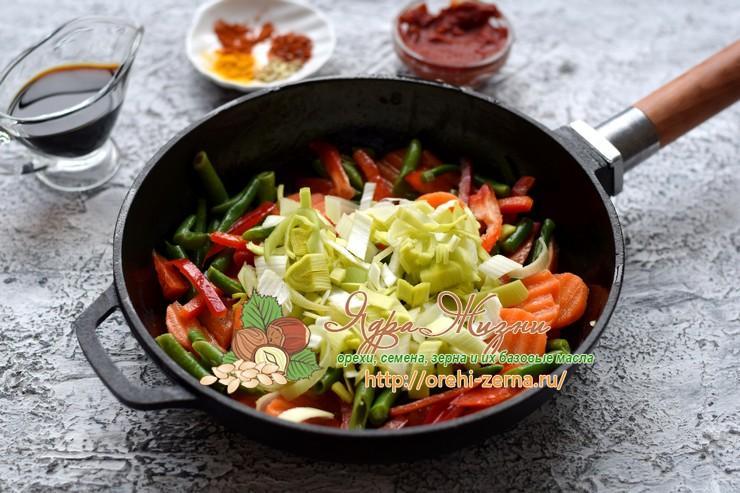 тушеный нут с овощами рецепт