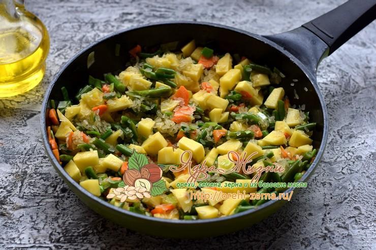 Суп с рисом и стручковой фасолью рецепт в домашних условиях