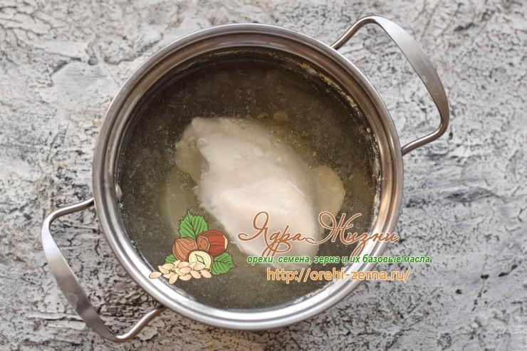салат с фасолью и курицей рецепт с фото