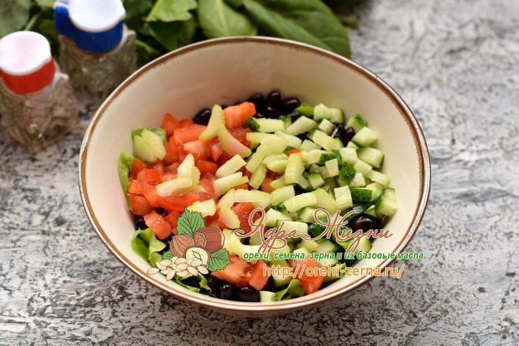 салат с черной фасолью рецепт
