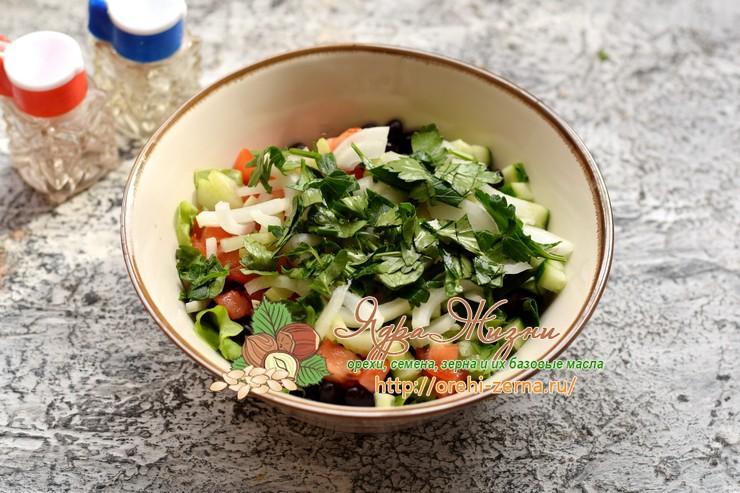 салат с черной фасолью рецепт в домашних условиях