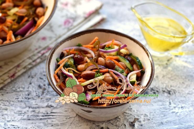 салат из морской капусты с фасолью рецепт в домашних условиях