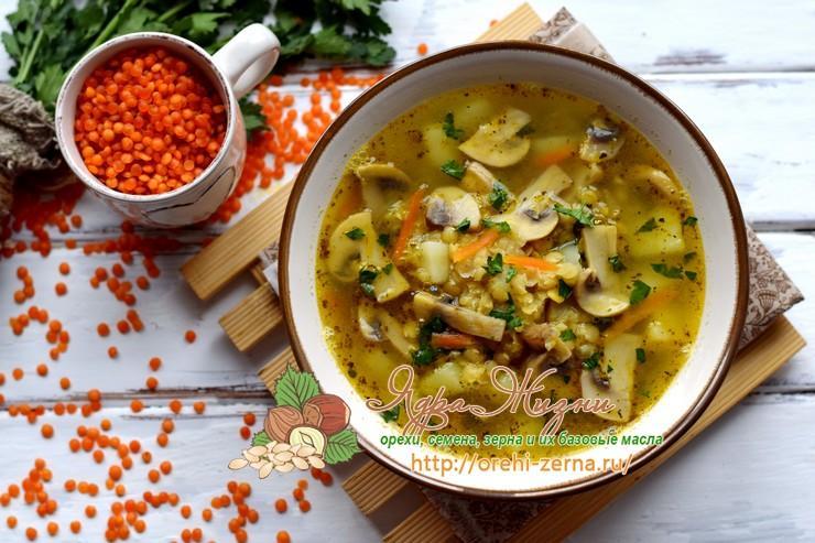 постный суп из чечевицы рецепт в домашних условиях