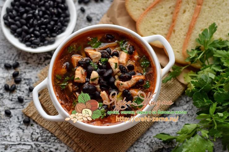 суп с фасолью и курицей рецепт в домашних условиях
