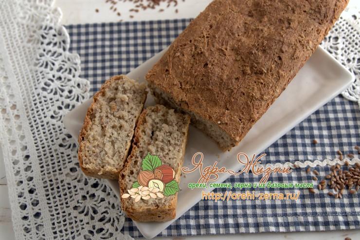 Гречневый хлеб с семенами льна: рецепт в домашних условиях