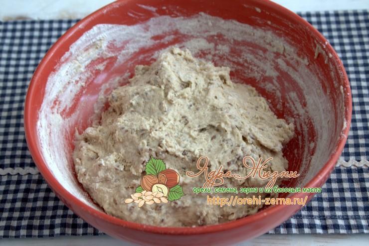 гречневый хлеб с семенами льна