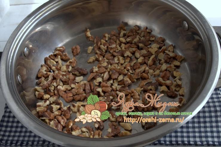 Как жарить грецкие орехи на сковороде рецепт