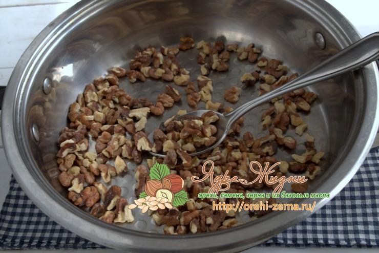 Как жарить грецкие орехи на сковороде рецепт в домашних условиях