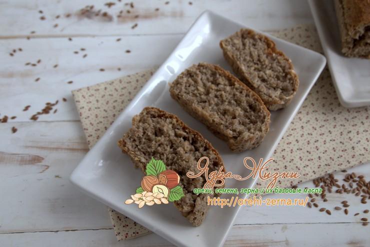 Льняной хлеб с овсяными хлопьями