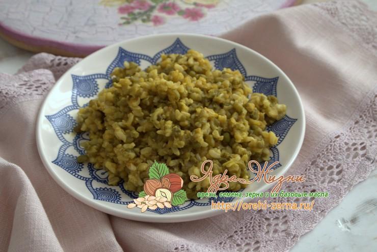 Маш с рисом неочищенным: рецепт в домашних условиях