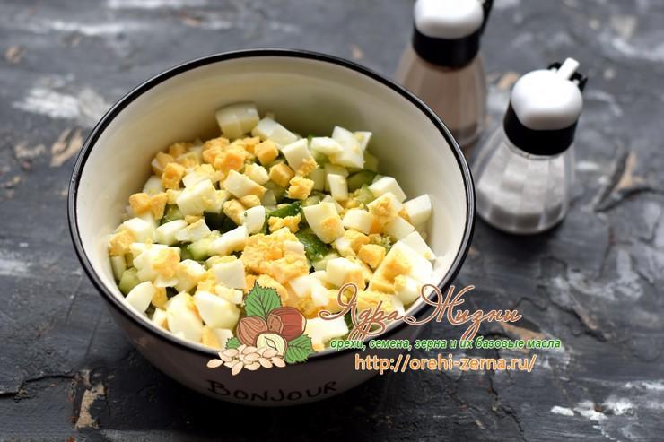 рисовый салат с лососем рецепт