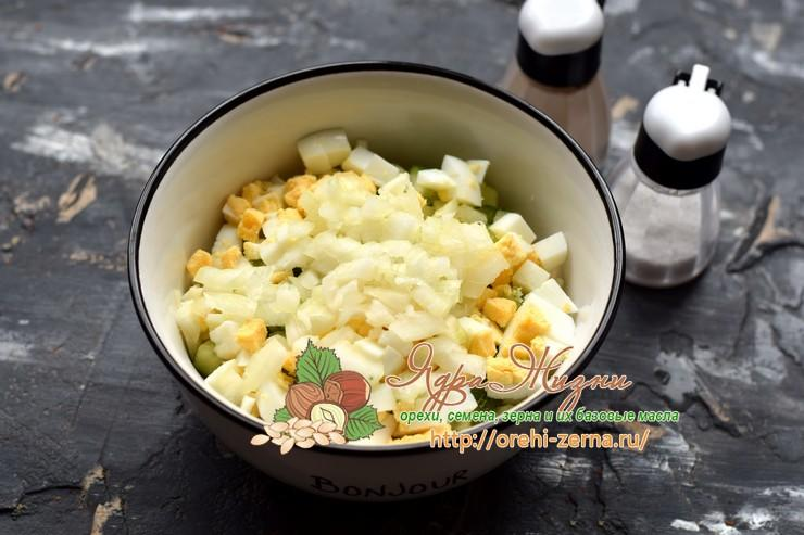 рисовый салат с лососем рецепт в домашних условиях
