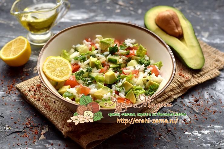 Рисовый салат с овощами и авокадо: рецепт в домашних условиях