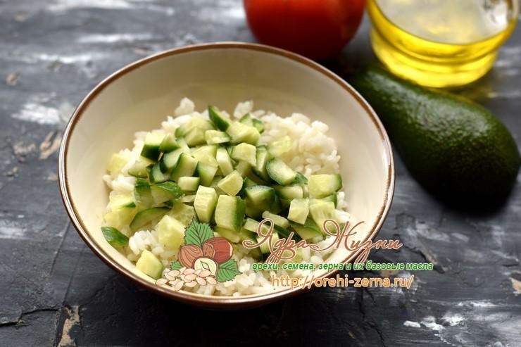 рисовый салат с овощами рецепт
