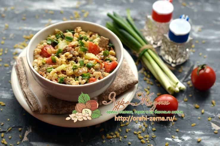 cалат с булгуром и овощами рецепт в домашних условиях