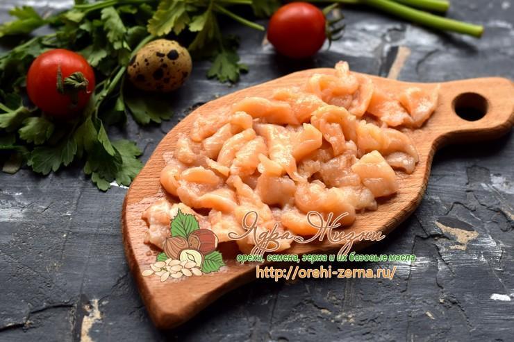 салат с кус-кус и семгой