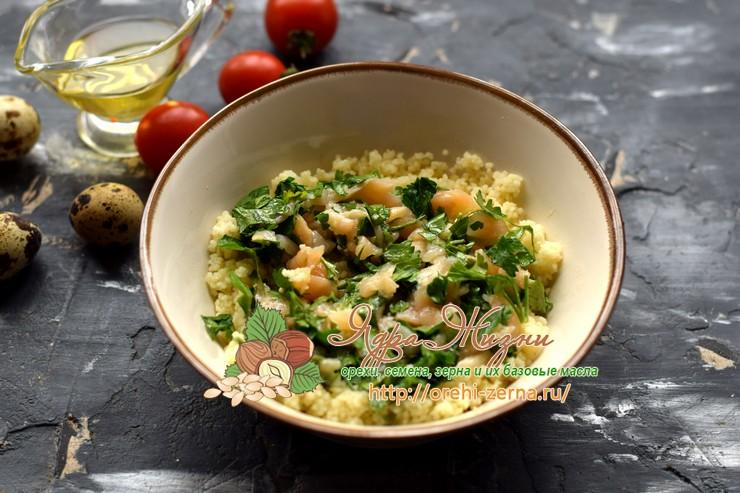 салат с кус-кус и семгой рецепт с фото