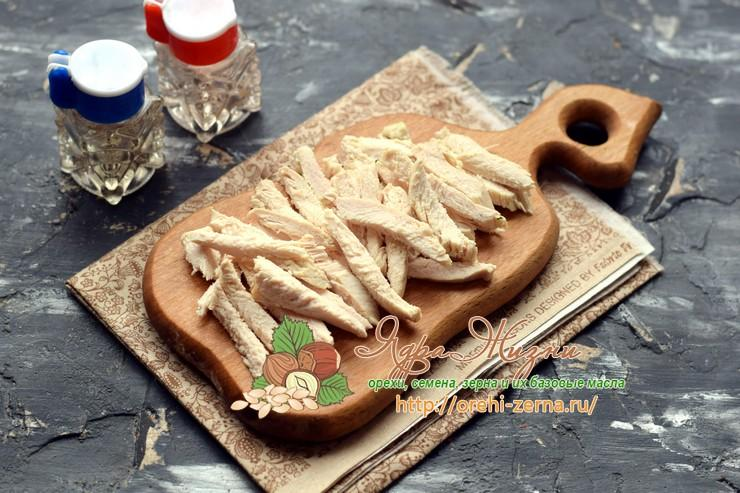 салат с курицей и рисом рецепт с фото