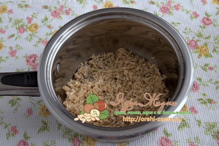 варить неочищенный рис рецепт в домашних условиях