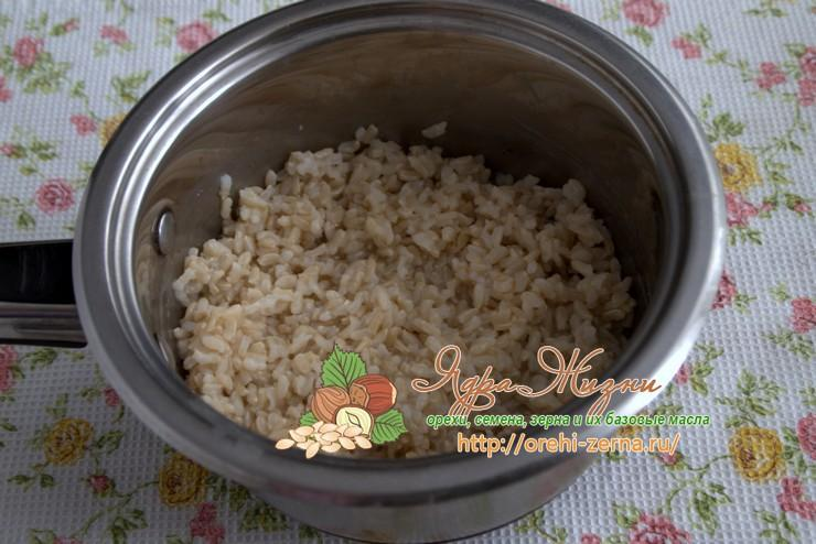 варить неочищенный рис
