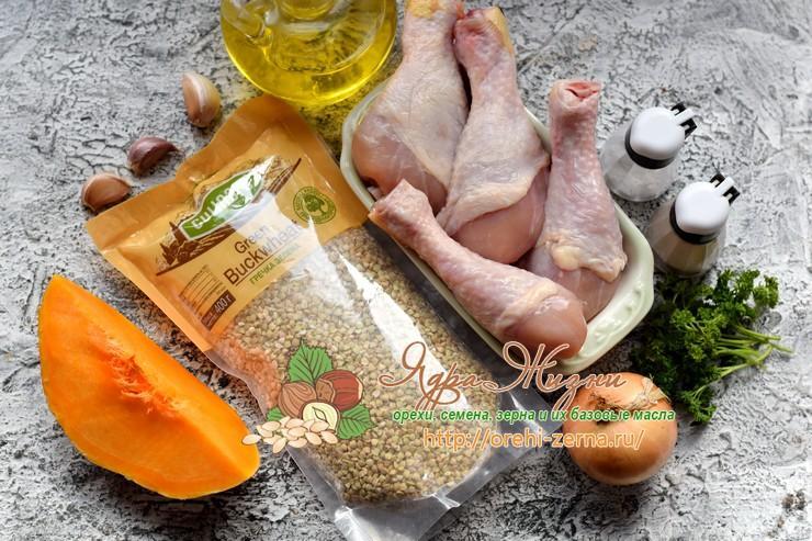 гречка с курицей