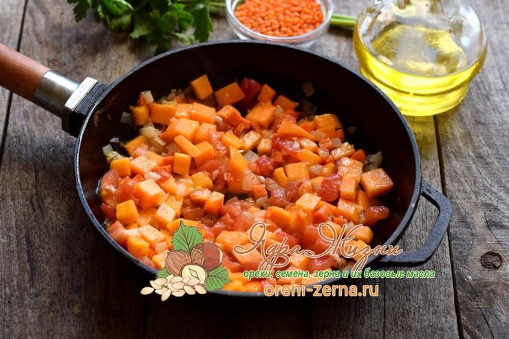 чечевичный суп с тыквой рецепт