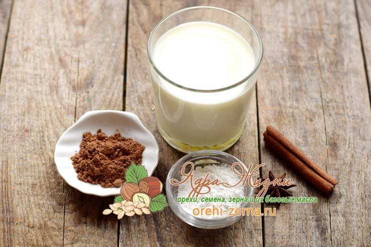 какао из какао-порошка на молоке