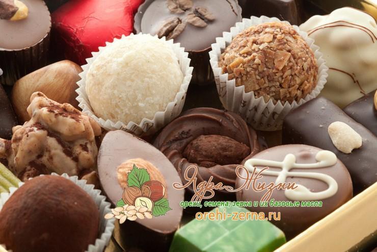 конфеты без пальмового масла в России список